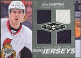 2010/11 Upper Deck Black Diamond Jerseys Quad #QJCC Chris Campoli