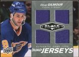 2010/11 Upper Deck Black Diamond Jerseys Quad #QJDG Doug Gilmour