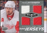 2010/11 Upper Deck Black Diamond Jerseys Quad #QJHZ Henrik Zetterberg