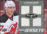 2010/11 Upper Deck Black Diamond Jerseys Quad #QJIK Ilya Kovalchuk