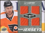 2010/11 Upper Deck Black Diamond Jerseys Quad #QJJC Jeff Carter
