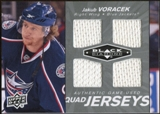 2010/11 Upper Deck Black Diamond Jerseys Quad #QJJV Jakub Voracek