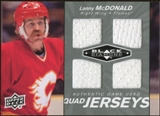 2010/11 Upper Deck Black Diamond Jerseys Quad #QJLM Lanny McDonald
