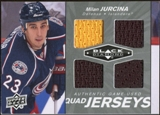 2010/11 Upper Deck Black Diamond Jerseys Quad #QJMJ Milan Jurcina