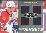 2010/11 Upper Deck Black Diamond Jerseys Quad #QJNH Nathan Horton