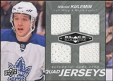 2010/11 Upper Deck Black Diamond Jerseys Quad #QJNK Nikolai Kulemin