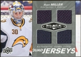 2010/11 Upper Deck Black Diamond Jerseys Quad #QJRM Ryan Miller