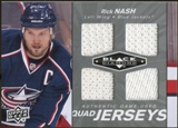 2010/11 Upper Deck Black Diamond Jerseys Quad #QJRN Rick Nash
