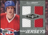 2010/11 Upper Deck Black Diamond Jerseys Quad #QJSV Steve Shutt