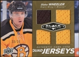 2010/11 Upper Deck Black Diamond Jerseys Quad Gold #QJBW Blake Wheeler 23/25
