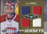 2010/11 Upper Deck Black Diamond Jerseys Quad Gold #QJCP Carey Price 7/25