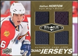 2010/11 Upper Deck Black Diamond Jerseys Quad Gold #QJNH Nathan Horton 7/25
