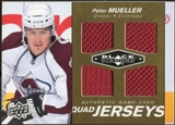 2010/11 Upper Deck Black Diamond Jerseys Quad Gold #QJPM Peter Mueller 2/25