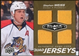 2010/11 Upper Deck Black Diamond Jerseys Quad Gold #QJSW Stephen Weiss /25