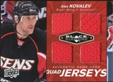 2010/11 Upper Deck Black Diamond Jerseys Quad Ruby #QJAK Alex Kovalev 37/50