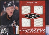 2010/11 Upper Deck Black Diamond Jerseys Quad Ruby #QJBR Bobby Ryan /50