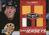 2010/11 Upper Deck Black Diamond Jerseys Quad Ruby #QJCN Cam Neely 7/50
