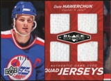 2010/11 Upper Deck Black Diamond Jerseys Quad Ruby #QJDH Dale Hawerchuk 49/50