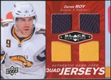 2010/11 Upper Deck Black Diamond Jerseys Quad Ruby #QJDR Derek Roy 49/50