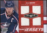 2010/11 Upper Deck Black Diamond Jerseys Quad Ruby #QJRN Rick Nash /50