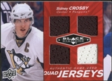 2010/11 Upper Deck Black Diamond Jerseys Quad Ruby #QJSC Sidney Crosby /50