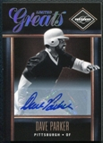 2011 Panini Limited Greats Signatures #20 Dave Parker Autograph 258/499