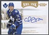 2011/12 Panini Contenders #62 Carl Gunnarsson NHL Ink Gold #06/25