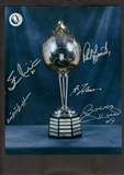 Hart Trophy Multi Signed 11x14 Photo (Frozen Pond COA)