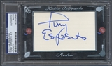 2012 Historic Autographs Peerless #40 Tony Esposito Auto #4/7
