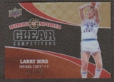 2010 Upper Deck World of Sports Clear Competitors #CC4 Larry Bird /550