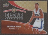 2010 Upper Deck World of Sports Clear Competitors #CC5 Derrick Rose /550