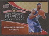 2010 Upper Deck World of Sports Clear Competitors #CC6 DeMarcus Cousins /550