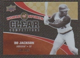 2010 Upper Deck World of Sports Clear Competitors #CC14 Bo Jackson /550