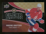 2010 Upper Deck World of Sports Clear Competitors #CC16 Wayne Gretzky /550