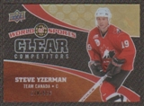 2010 Upper Deck World of Sports Clear Competitors #CC20 Steve Yzerman /550