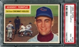 1956 Topps Baseball #212 Johnny Temple PSA 8 (NM-MT) *7304