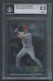 2001 Topps Chrome #596 Albert Pujols Rookie BGS 8.5