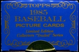 1985 Topps Tiffany Traded Baseball Factory Set