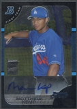 2005 Bowman Chrome #349 Matthew Kemp Rookie Auto