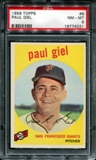1959 Topps Baseball #9 Paul Giel PSA 8 (NM-MT) *4021