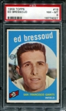 1959 Topps Baseball #19 Ed Bressoud PSA 8 (NM-MT) *4027