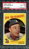 1959 Topps Baseball #64 Joe DeMaestri PSA 8 (NM-MT) *4037
