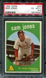 1959 Topps Baseball #75 Sam Jones PSA 6.5 (EX-MT+) *4040