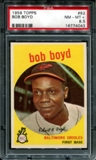 1959 Topps Baseball #82 Bob Boyd PSA 8.5 (NM-MT+) *4043