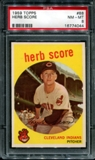 1959 Topps Baseball #88 Herb Score PSA 8 (NM-MT) *4044