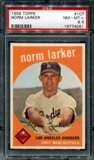 1959 Topps Baseball #107 Norm Larker PSA 8.5 (NM-MT) *4051