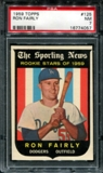 1959 Topps Baseball #125 Ron Fairly PSA 7 (NM) *4057