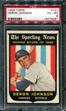 1959 Topps Baseball #131 Deron Johnson PSA 6 (EX-MT) *4061