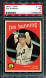 1959 Topps Baseball #149 Jim Bunning PSA 7 (NM) *4065