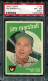 1959 Topps Baseball #153 Jim Marshall PSA 8 (NM-MT) (ST) *4066